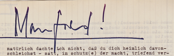 01-Brief von Peter, Aug 73-Überschrift 'Manfred'
